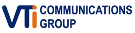 VTICOM – COMMUNICATIONS Logo